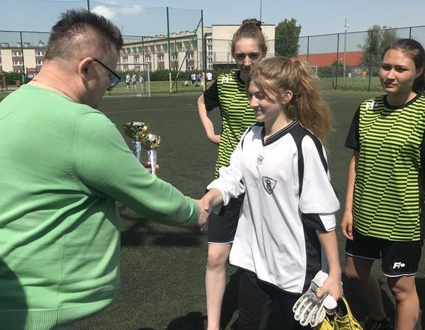 Powiatowy Turniej Piłki Nożnej w Malborku.