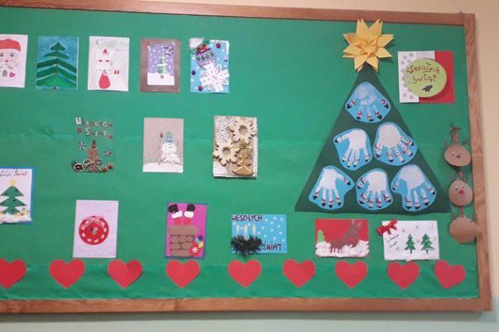 Wyniki konkursu plastycznego na kartkę bożonarodzeniową w świetlicy szkolnej