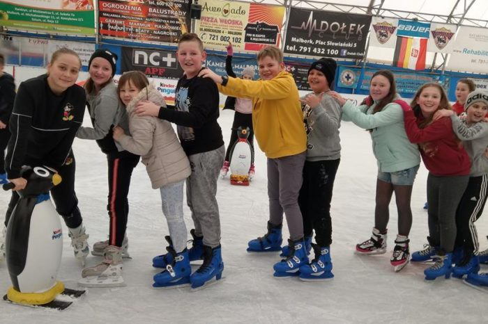 Jeździliśmy na łyżwach na lodowisku w Malborku